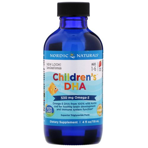 Nordic Naturals, Children's DHA, Strawberry, 4 fl oz (119 ml) Review