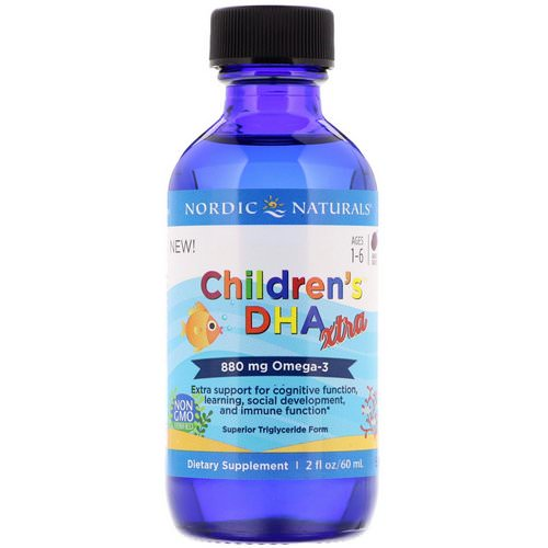 Nordic Naturals, Children's DHA Xtra, Berry Punch, 2 fl oz (60 ml) Review