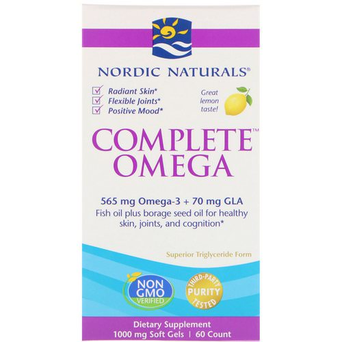 Nordic Naturals, Complete Omega, Lemon, 1,000 mg, 60 Soft Gels Review