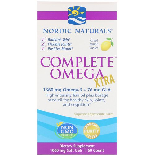 Nordic Naturals, Complete Omega Xtra, Lemon, 1,000 mg, 60 Soft Gels Review