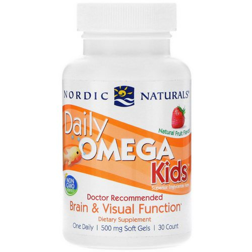 Nordic Naturals, Daily Omega Kids, Natural Fruit Flavor, 500 mg, 30 Soft Gels Review