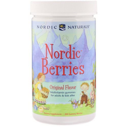 Nordic Naturals, Nordic Berries, Multivitamin Gummies, Original Flavor, 200 Gummy Berries Review