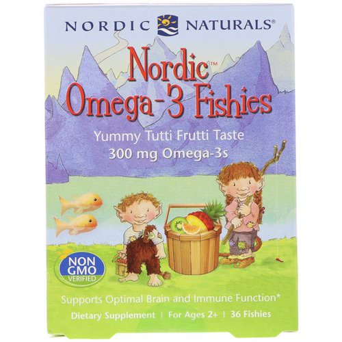 Nordic Naturals, Nordic Omega-3 Fishies, Yummy Tutti Frutti Taste, 300 mg, 36 Fishies Review