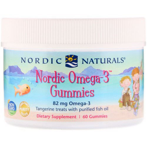 Nordic Naturals, Nordic Omega-3 Gummies, Tangerine Treats, 60 Gummies Review