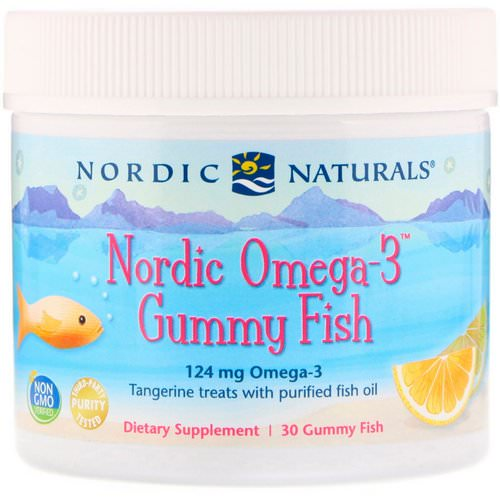 Nordic Naturals, Nordic Omega-3 Gummy Fish, Tangerine Treats, 124 mg, 30 Gummy Fish Review