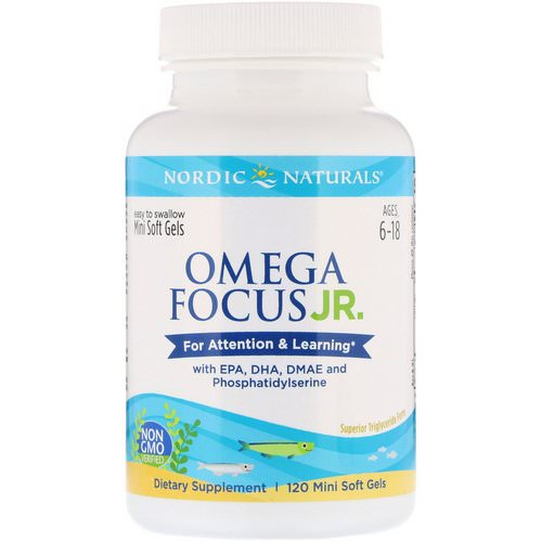 Nordic Naturals, Omega Focus Junior, 120 Mini Soft Gels Review