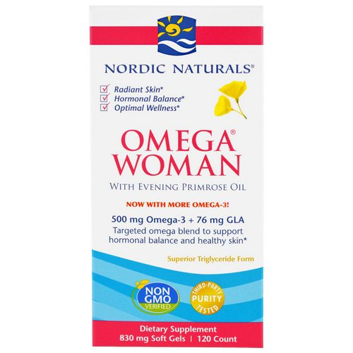 Nordic Naturals, Omega Woman, With Evening Primrose Oil, 830 mg, 120 Soft Gels Review