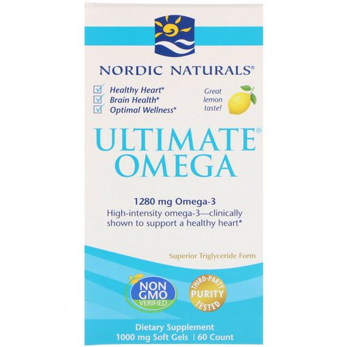 Nordic Naturals, Ultimate Omega, Lemon, 1,280 mg, 60 Soft Gels Review