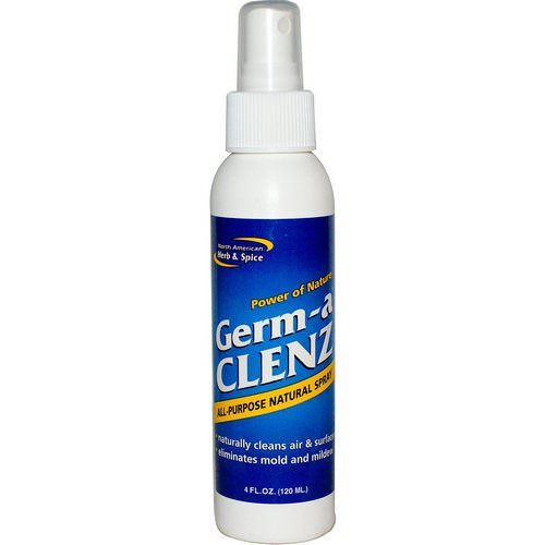 North American Herb & Spice, Germ-a Clenz, All Purpose Natural Spray, 4 fl oz (120 ml) Review