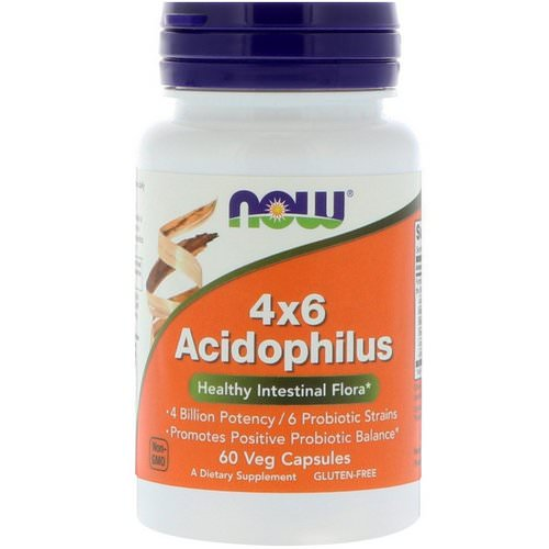 Now Foods, 4x6 Acidophilus, 60 Veg Capsules Review