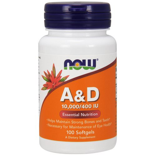 Now Foods, A&D, Essential Nutrition, 10,000/400 IU, 100 Softgels Review