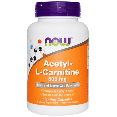 Now Foods, Acetyl-L Carnitine, 500 mg, 100 Veg Capsules Review