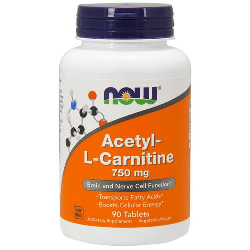 Now Foods, Acetyl-L Carnitine, 750 mg, 90 Tablets Review