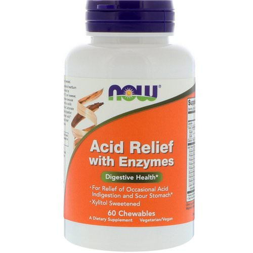 Now Foods, Acid Relief with Enzymes, 60 Chewables Review