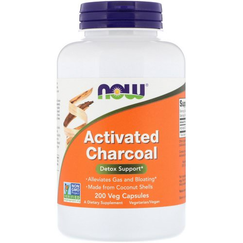 Now Foods, Activated Charcoal, 200 Veg Capsules Review
