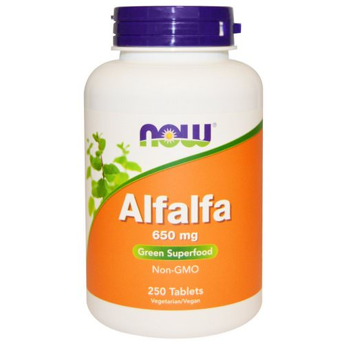 Now Foods, Alfalfa, 650 mg, 250 Tablets Review