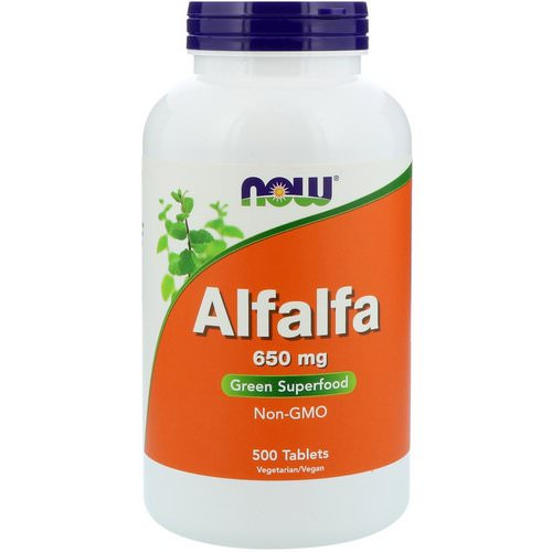 Now Foods, Alfalfa, 650 mg, 500 Tablets Review