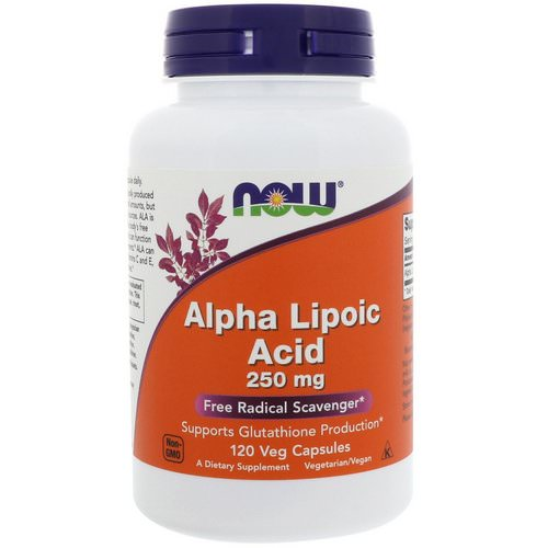 Now Foods, Alpha Lipoic Acid, 250 mg, 120 Veg Capsules Review