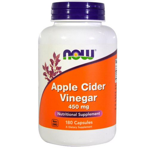 Now Foods, Apple Cider Vinegar, 450 mg, 180 Capsules Review