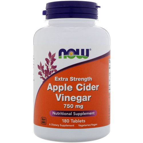 Now Foods, Apple Cider Vinegar, Extra Strength, 750 mg, 180 Tablets Review