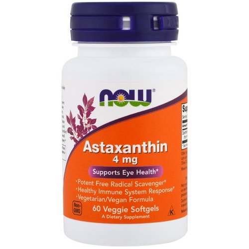 Now Foods, Astaxanthin, 4 mg, 60 Veggie Softgels Review