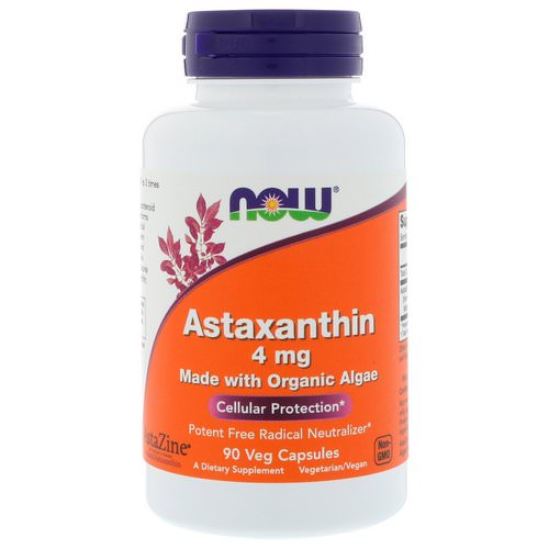Now Foods, Astaxanthin, 4 mg, 90 Veg Capsules Review