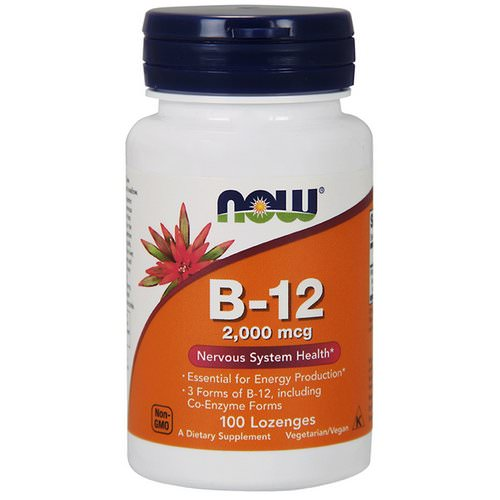 Now Foods, B-12, 2,000 mcg, 100 Lozenges Review