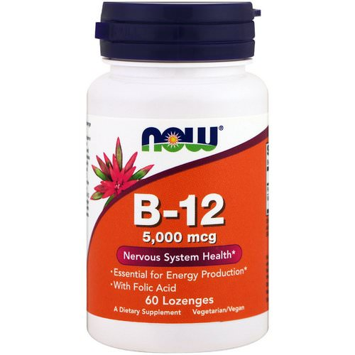Now Foods, B-12, 5,000 mcg, 60 Lozenges Review