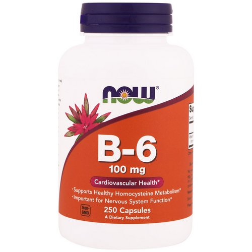 Now Foods, B-6, 100 mg, 250 Capsules Review