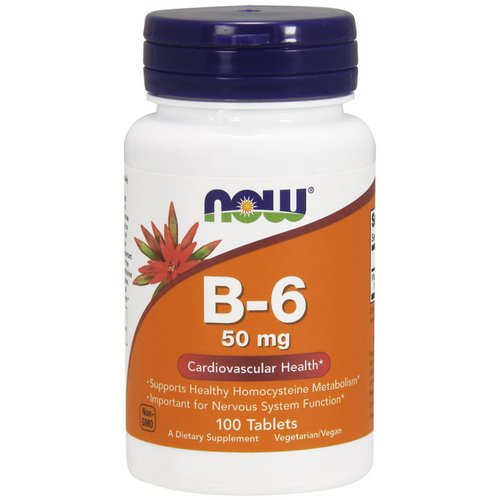 Now Foods, B-6, 50 mg, 100 Tablets Review