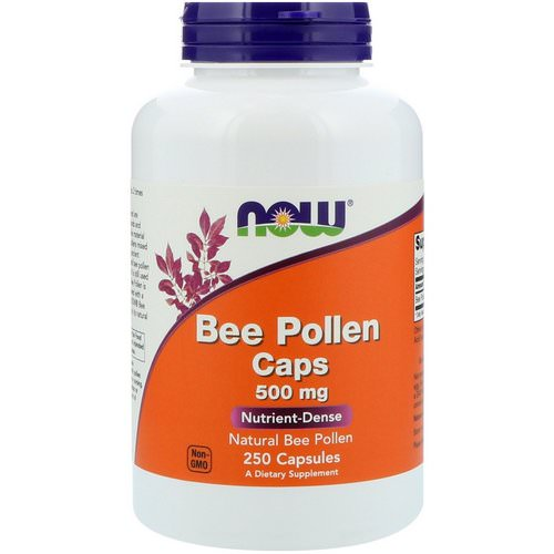 Now Foods, Bee Pollen Caps, 500 mg, 250 Capsules Review