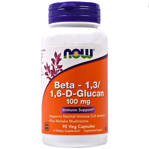 Now Foods, Beta-1,3/1,6-D-Glucan, 100 mg, 90 Veggie Caps Review
