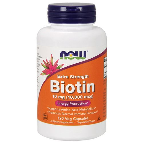 Now Foods, Biotin, 10,000 mcg, 120 Veg Capsules Review