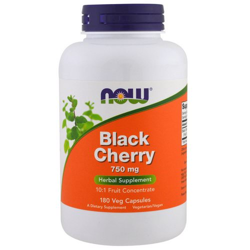Now Foods, Black Cherry Fruit, 750 mg, 180 Veg Capsules Review