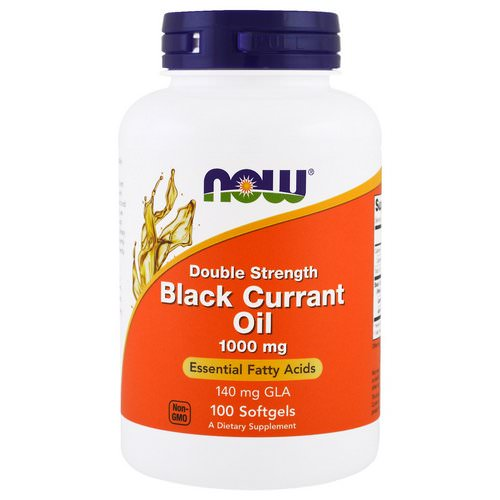 Now Foods, Black Currant Oil, 1,000 mg, 100 Softgels Review