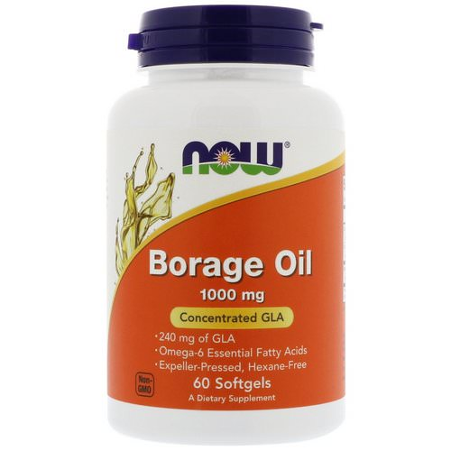 Now Foods, Borage Oil, Concentration GLA, 1000 mg, 60 Softgels Review