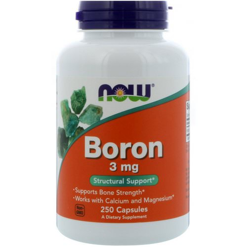 Now Foods, Boron, 3 mg, 250 Capsules Review