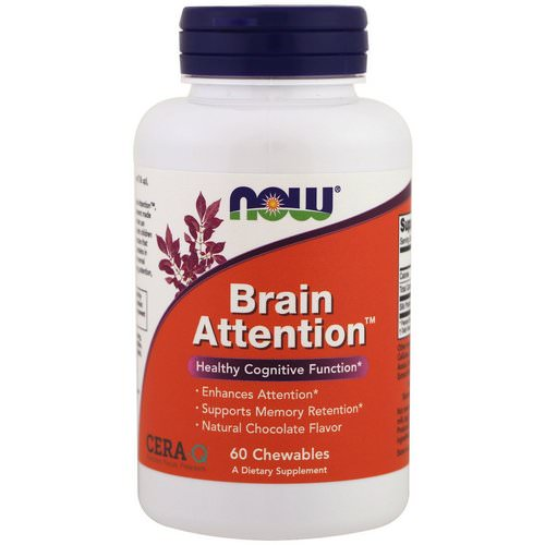 Now Foods, Brain Attention, Natural Chocolate Flavor, 60 Chewables Review