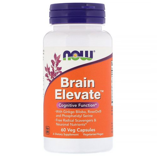 Now Foods, Brain Elevate, 60 Veg Capsules Review