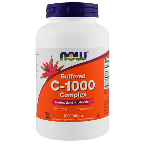 Now Foods, Buffered C-1000 Complex, 180 Tablets Review
