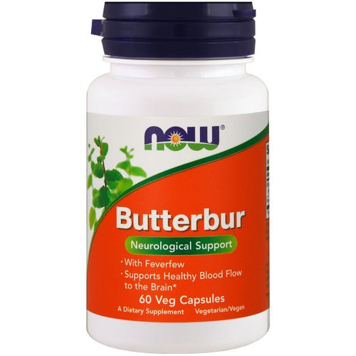 Now Foods, Butterbur, 60 Veg Capsules Review