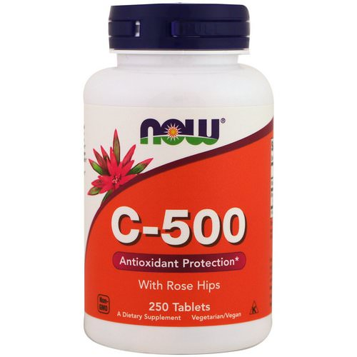 Now Foods, C-500 With Rose Hips, 250 Tablets Review