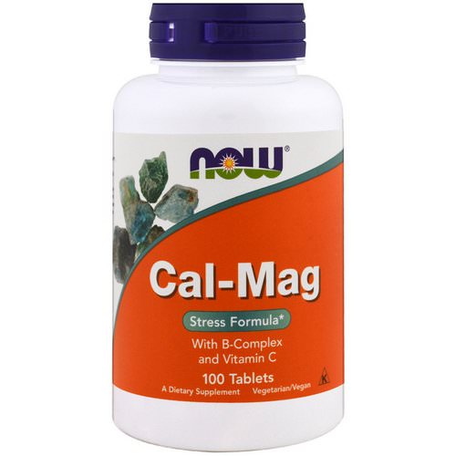 Now Foods, Cal-Mag, Stress Formula, 100 Tablets Review