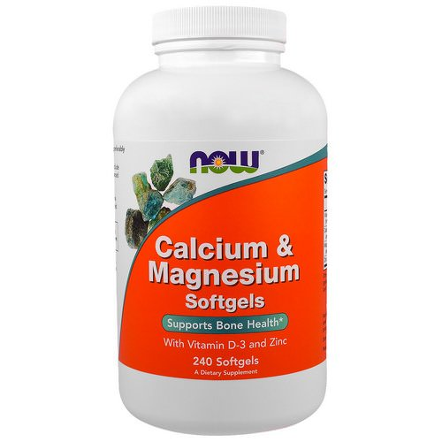 Now Foods, Calcium & Magnesium, with Vitamin D-3 and Zinc, 240 Softgels Review