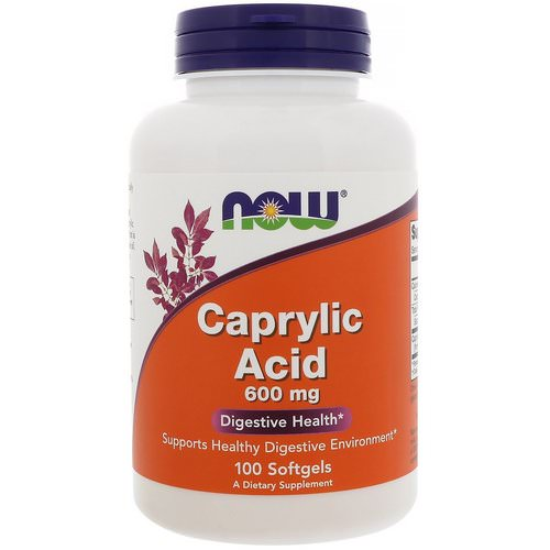 Now Foods, Caprylic Acid, 600 mg, 100 Softgels Review