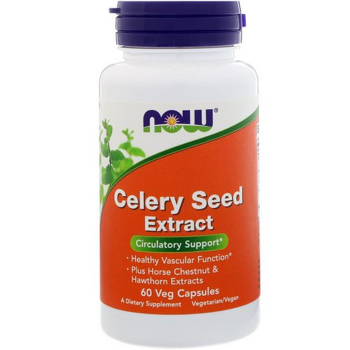 Now Foods, Celery Seed Extract, 60 Veg Capsules Review