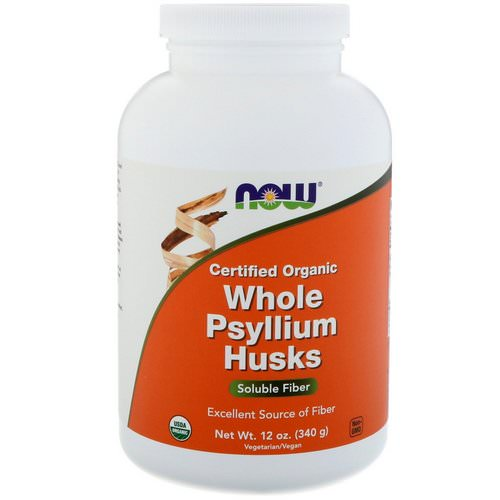 Now Foods, Certifed Organic Whole Psyllium Husks, 12 oz (340 g) Review