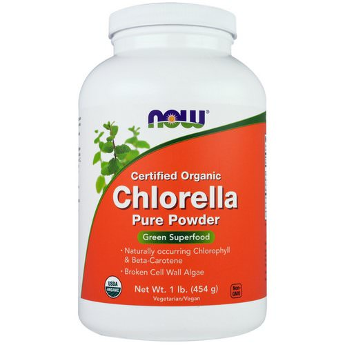 Now Foods, Certified Organic Chlorella, Pure Powder, 1 lb (454 g) Review