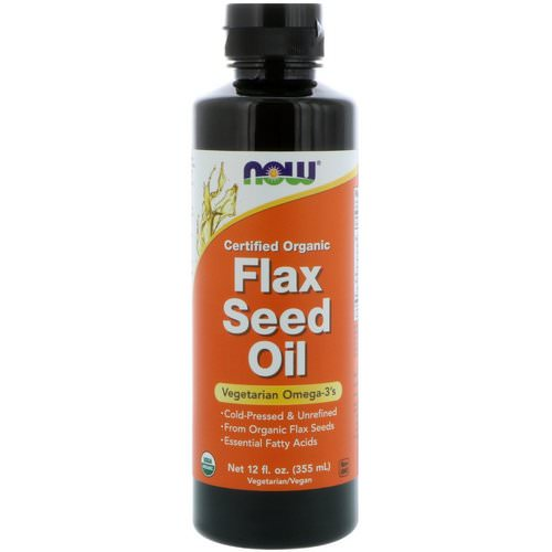 Now Foods, Certified Organic, Flax Seed Oil, 12 fl oz (355 ml) Review
