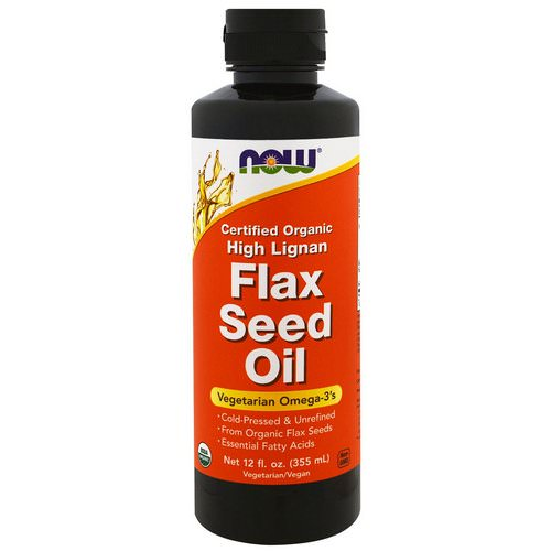 Now Foods, Certified Organic, High Lignan Flax Seed Oil, 12 fl oz (355 ml) Review